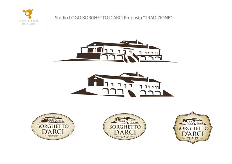 Studio logo borghetto d'arci proposta restyling